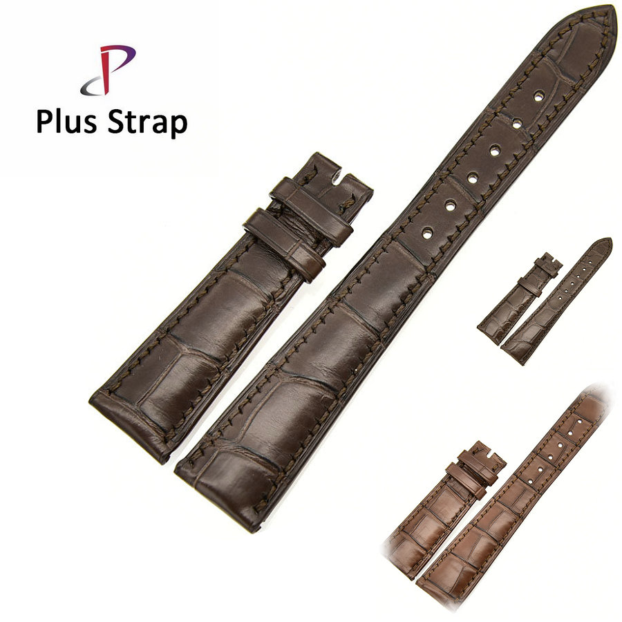Brown Watch Band for Patek Philippe Watches Strap Replacement Alligator Skin Genuine Leather Men&Women Wristband no Buckle alligator skin genuine leather watch band strap for omega watches accessories 16 mm 18 mm men bracelet wristband no buckle