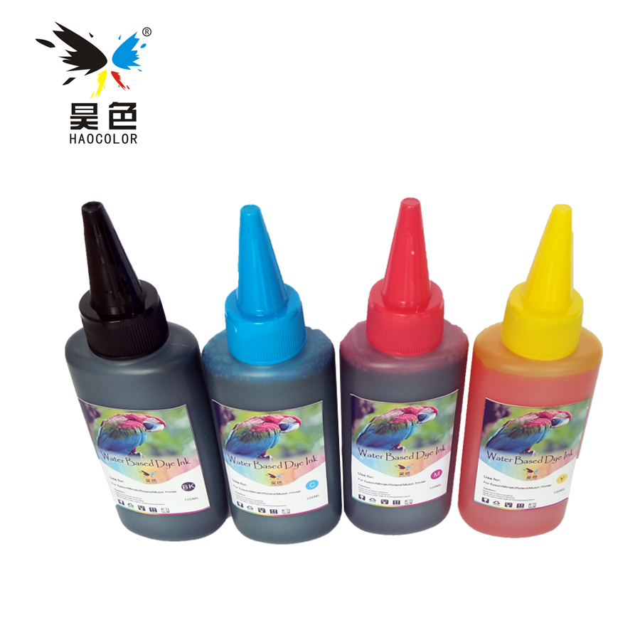 4x 100ml universal refill <font><b>ink</b></font> kit dye <font><b>ink</b></font> compatible for <font><b>hp</b></font> officejet 7500a 6520 <font><b>c3100</b></font> 61 63 56 57 11 652 <font><b>ink</b></font> jet cartridge image