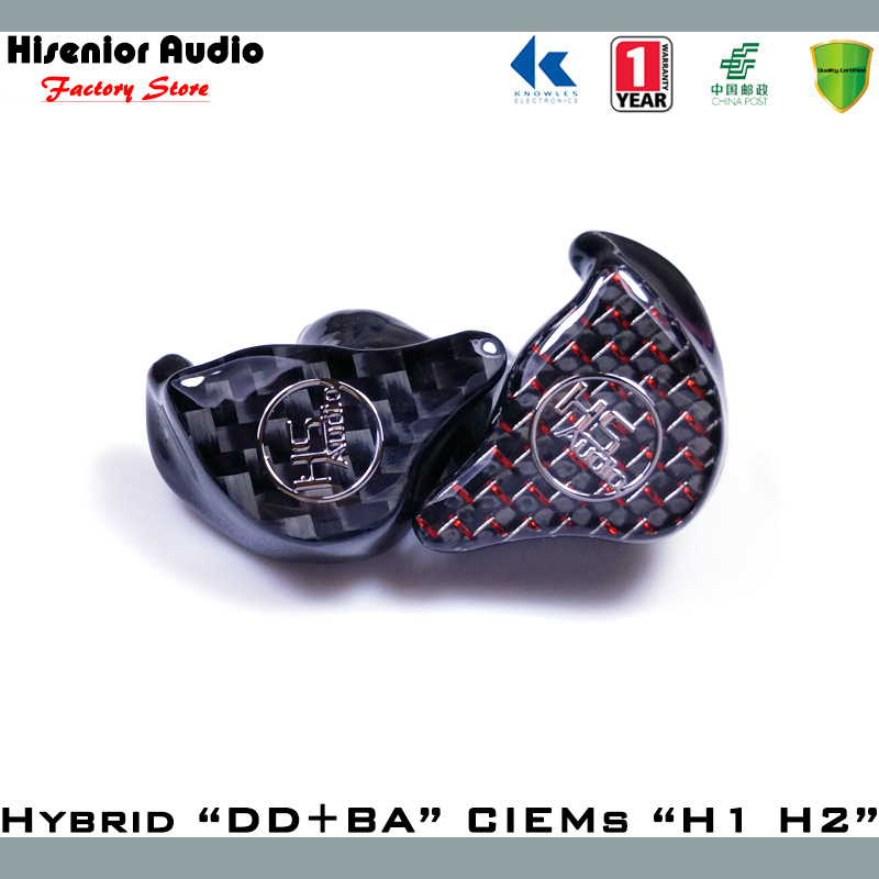 Hybrid DD+BA Balanced Armature Drivers UIEM/CIEM Noise Cancelling Isolating In Ear Monitor Custom Earphone Free Shipping