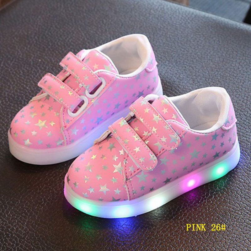 Fashion Autumn Kids Glowing Sneakers Flash LED Light Up Luminous Trainers Sneaker Boys Girls Children Shoes Gifts @ZJF