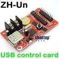 Livre o navio ZH-Onu USB disco de U cartão de controle de led 320*32 pixels levou controlador de placa de carro painel P10 publicidade levou exibição de texto