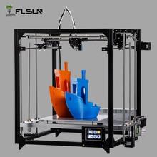 Алюминиева 3D принтер Высокая точность большой размер печати 260*260*350 мм 3d-Printer Комплект Горячая кровать два ролл нить SD Card