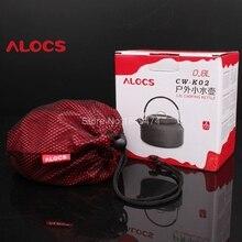 Alocs CW-K02/CW-K03 0.8L /1.4L Camping Kettle Cookware Water Pot Teakettle Ultralight Camping Equipment Cooking Pots Bottle New