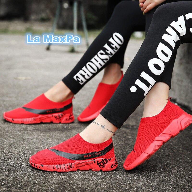 Femmes chaussures lumière parallèle sneakers hommes rue maille chaussures de course pour hommes Marques chaussures de sport femme zapatillas mujer taille 35 -44