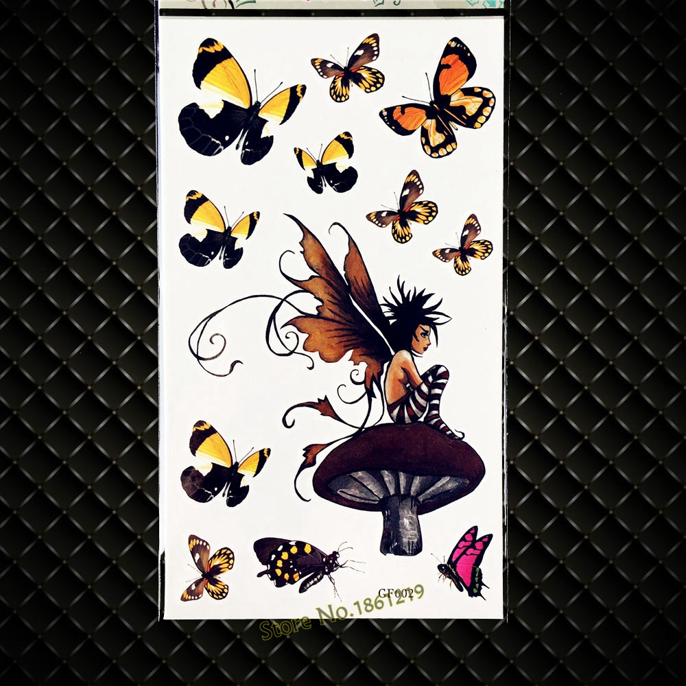 Tattoo King Multi-Colored Stickers-Garden Fairies