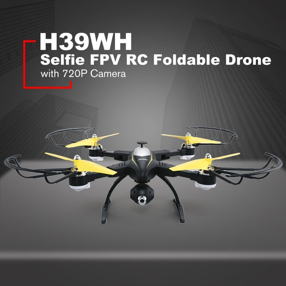 JJR/C H39WH Selfie FPV RC 2.4G RC Foldable Quadcopter Drone with 720P Wifi HD Live Video Camera Altitude Hold 360 Degree Flips 720p hd camera rc drone quadcopter 2 4g rc drone selfie smart fpv quadcopter wifi drone video recording 1600mah