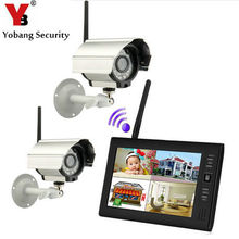 Promo offer YobangSecurity 7″ TFT LCD DVR Monitor 2.4GHz Digital Wireless 4CH CCTV DVR Security Camera Surveillance System (2 Cameras kit)