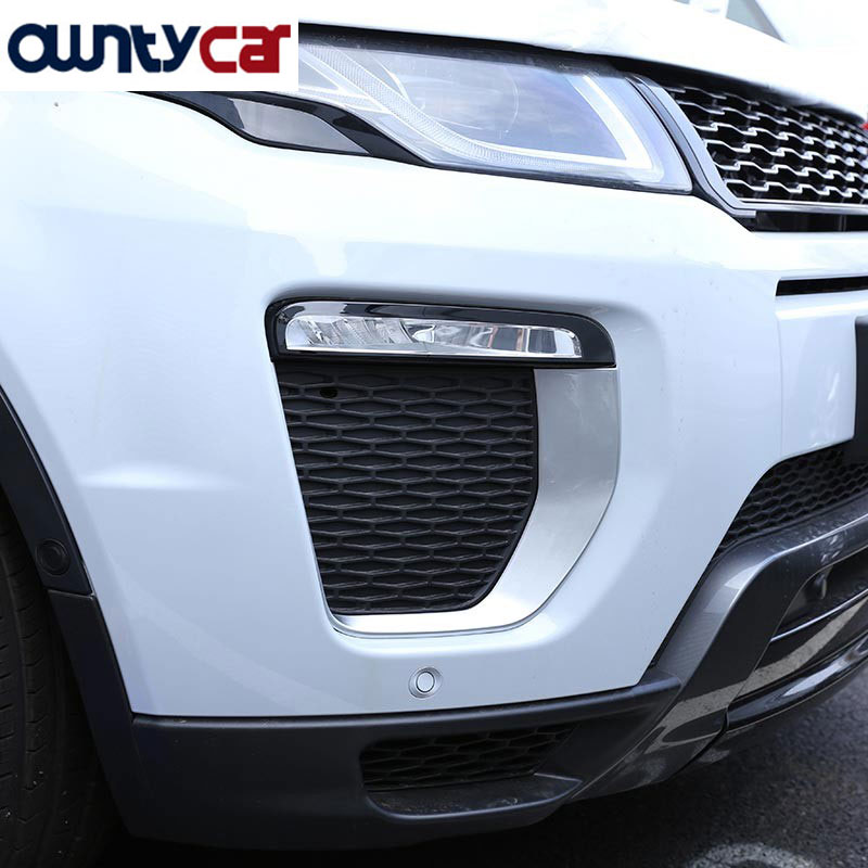 For Landrover Range Rover Evoque HSE Dynamic 2016 Car Accessories Front Fog Lamp Frame Trim ABS Chrome Auto Parts for landrover range rover sport 2014 2016 car accessories abs chrome dashboard u shape frame trim new arriavls