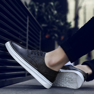 Image 3 - Ademend Schoenen Lace Up Comfortabele Naaien Mode Echt Lederen Sneakers Casual Schoenen Zapatillas Hombre Dropshipping L4