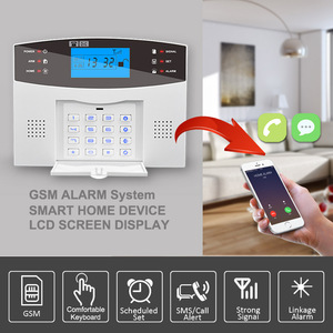 Image 2 - Comfortable Keyboard M2B Wireless GSM alarm system, LCD Screen, For Home Burglar Alarm System, Sensor Detector Alarm