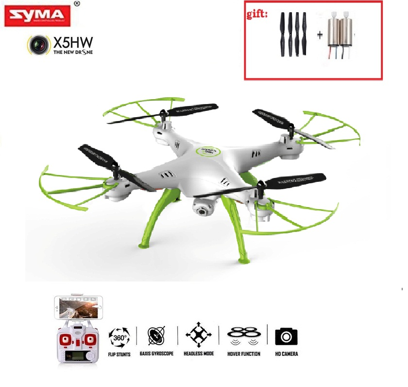 Original Syma X5HW 2.4G RC Drone RC quoadcopter with HD Camera FPV 2.4G 4CH RC Helicopter professional syma x5uc 4ch quadrocopter rc drone 2 4g remote control drone with hd camera rc helicopter with original box