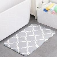 50*80cm Environmental protection SBR 3D flowers pattern memory foam door mat