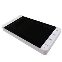New Wired 7 Color TFT LCD White Touch Sensor Screen Video Door Phone Intercom Kit FREE