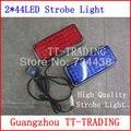 2x44 led de alta brilhantes luzes estroboscópicas veículo de emergência strobe barra de luzes de advertência da polícia luz ambulância luzes piscam DC12V VERMELHO AZUL