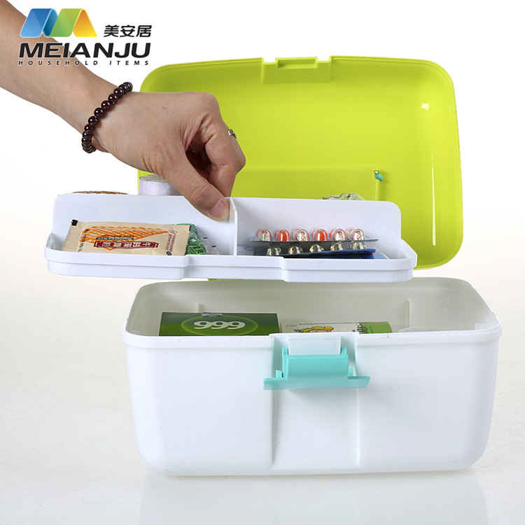 Home Opaque Small Portable Drug Kit Box Plastic Box Storage Rangement Maquillage