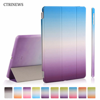 CTRINEWS For New IPad 9 7 2017 Flip Smart Cover Case For IPad 2017 A1822 PU