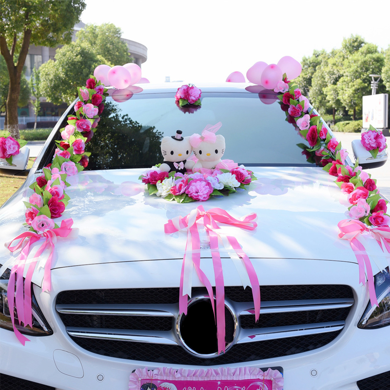 Artificial Flowers Wedding Car Decoration Artificial Flowers Set Decorative Flowers Wreaths Float Decor Wedding Arrangement