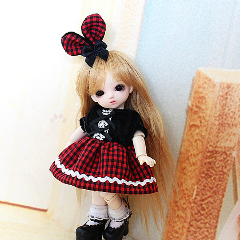 BJD doll clothes Plaid plaid skirt 1/8 1/12 Lati-Y/Puki Fee/AE ботинки hcs ботинки