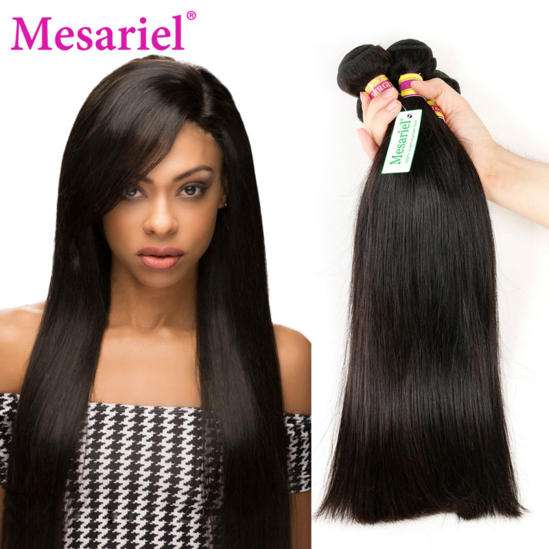 ФОТО Malaysian Virgin Hair Straight 3 Bundles Malaysian Straight Hair Weave Bundles Ms Ariel Hair Products 7A Unprocessed Human Hair