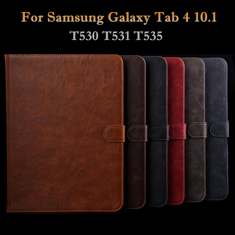 Smart PU Leather Case for Samsung Galaxy Tab 4 10.1 T530 T531 T535 Luxury Business Flip Stand Cover for Samsung Tab 4 10.1 Case luxury folding flip smart pu leather case book cover for samsung galaxy tab s 8 4 t700 t705 sleep wake function screen film pen