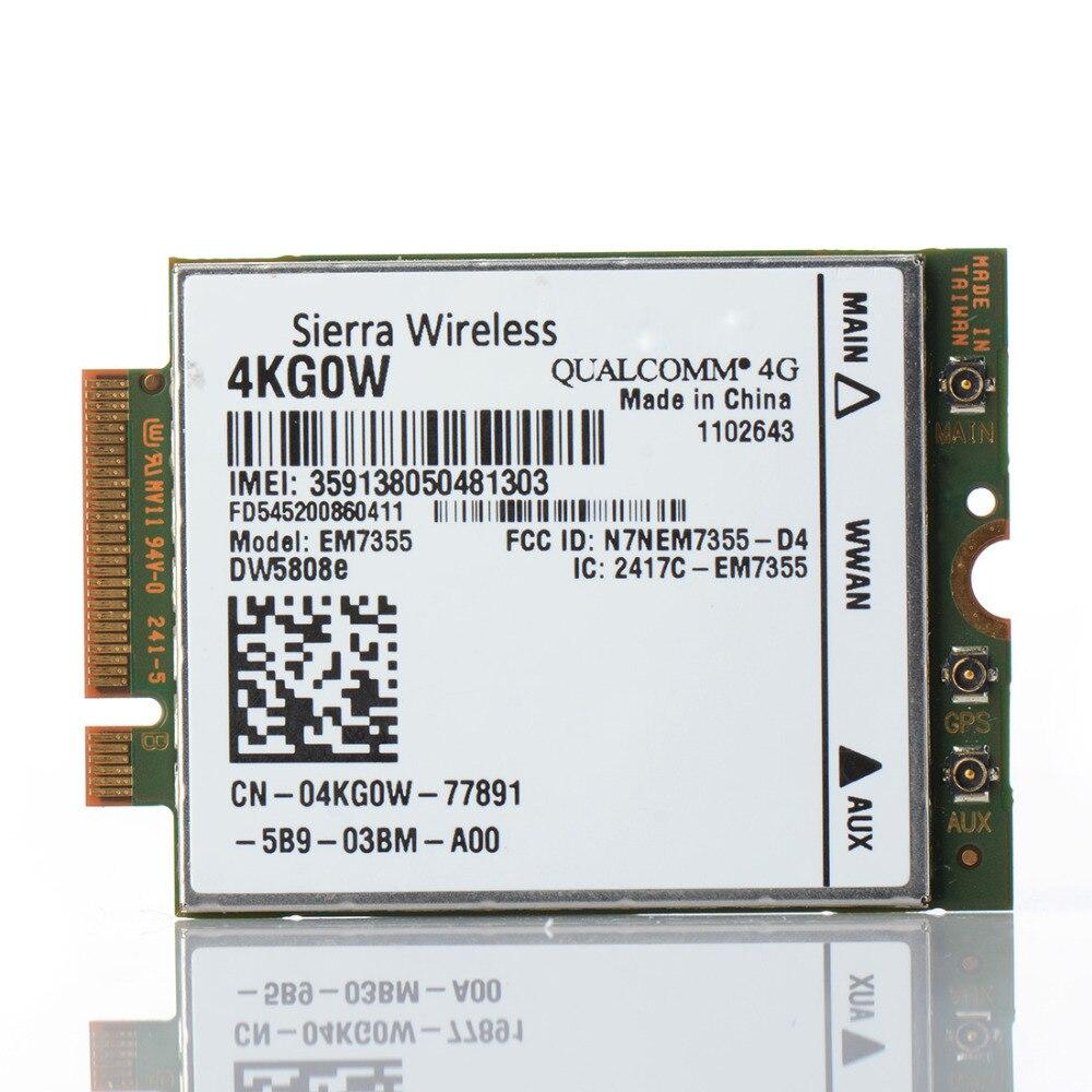 EM7355 4G LTE EVDO 42 Mbps NGFF Sans Fil 3G/4G WWAN M.2 Module pour HP lt4111 820 P15