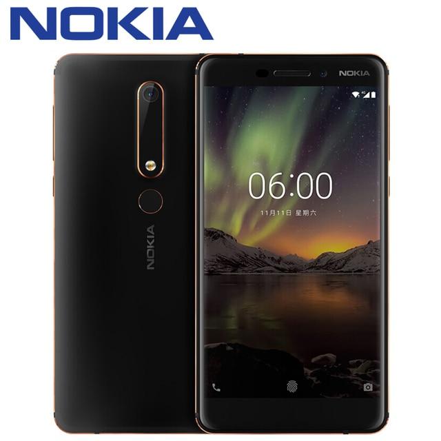 2018 Nokia 6 второго поколения 2th TA-1054 4 г 32 г 64 г Snapdragon 630 Octa Core 5.5 ''FHD Android 7 16.0MP 3000 мАч мобильного телефона