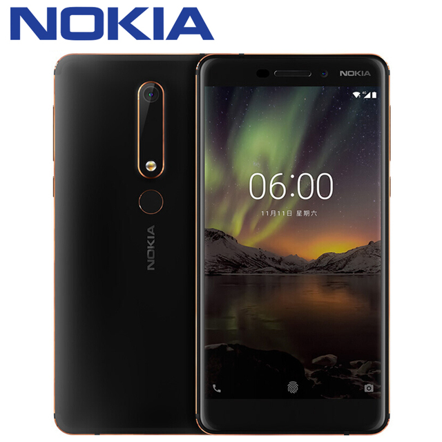 2018 Nokia 6 Second generation 2th TA-1054 4G 32G 64G Snapdragon 630 Octa core 5.5'' FHD Android 7 16.0MP 3000mAh Mobile phone