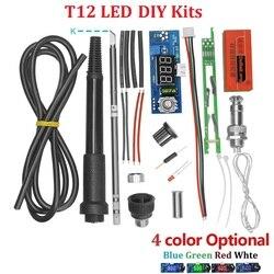 Электрический блок, Цифровой паяльник, станция, регулятор температуры, наборы для HAKKO T12 ручки, DIY наборы с LED вибрационным переключателем
