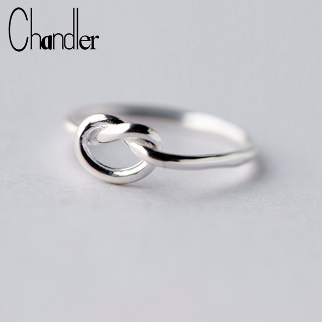 925 Sterling Silver Love Knot Heart shape Ring Antique Wedding Band ...