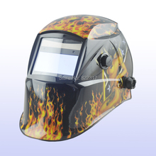 Auto darkening welding helmet/welding mask/MIG MAG TIG(Yoga-718G FIRE GIRL)/4 arc sensor/Replaceable Li-batteries