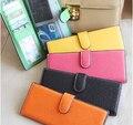 55 cartões de titulares de cartão de crédito do negócio de couro Novas mulheres 2015 moda feminina carteiras bolsas carteras porta tarjetas de mujer 45