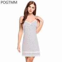Elegant Polka Dot Night Shirts Women Ruffle Nightgown Cotton Nightwear Summer Female Sexy Backless Sleepwear Nighty