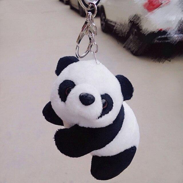 Toys Cartoon Plush Black White Cute Panda Keychain Keyring Key holder Car  Key Chains Men Women 11e37d6eb3