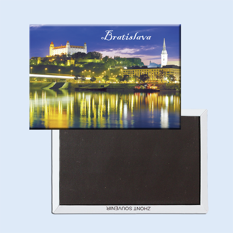 Братислава Словакия Cityscape тоңазытқыш - Үйдің декоры - фото 4