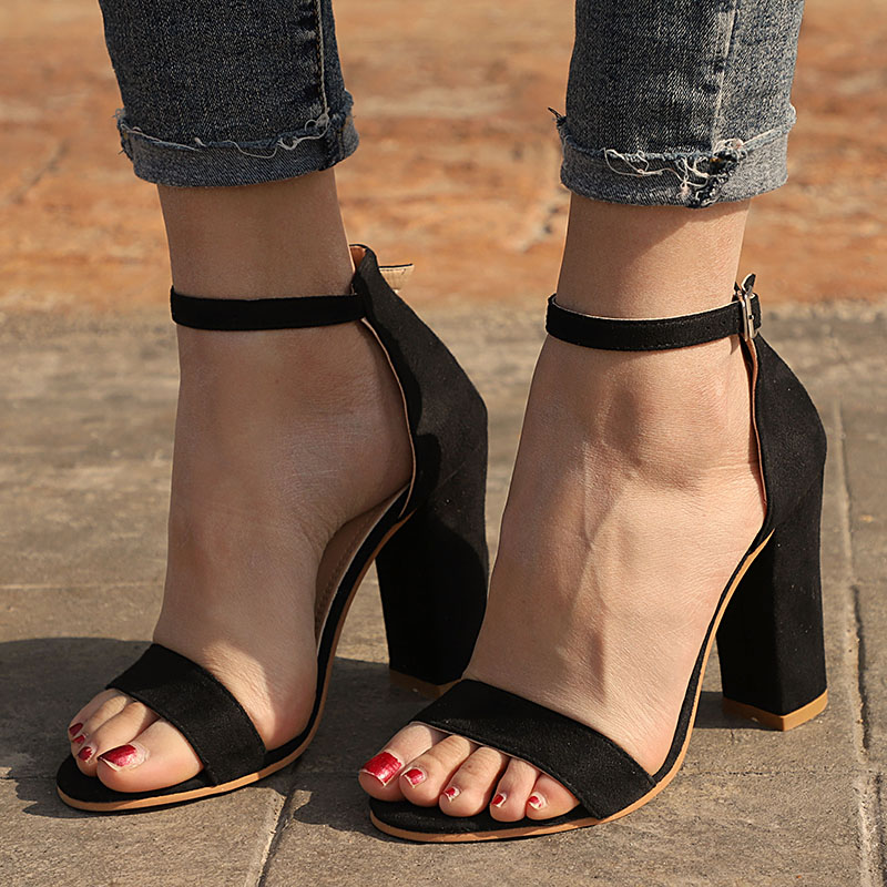 Women Sandals Ankle Strap Summer Shoes Woman High Heels Sandals Plus Size 43 Chaussures Femme Open Women Sandals Ankle Strap Summer Shoes Woman High Heels Sandals Plus Size 43 Chaussures Femme Open Toe Women Summer Sandals