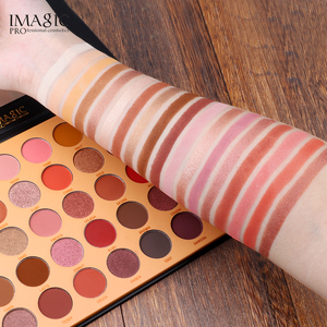 Image 3 - IMAGIC New 35 Color Nude Color Shiny Eye Shadow Palette Color Waterproof Eye Shadow Tray Pigment Pearl Matte Cosmetics
