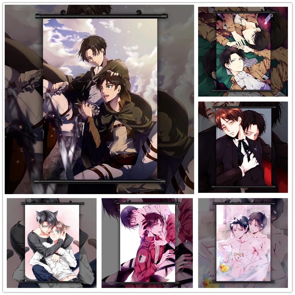 Attack On Titan Bl Eren X Levi Anime Manga Wall Poster Scroll B Painting Calligraphy Aliexpress