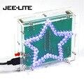 Bunte Glitzernde Fünfzackigen Stern Wasser Licht LED Kit DIY Kit w/ Acryl Shell DC 4 5 V 5V 1 6mm PCB DIY Urlaub Geschenke|LED-Module|   -
