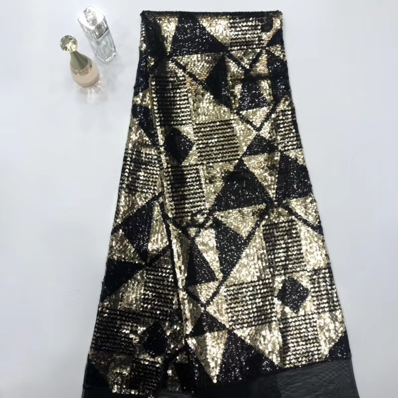Sequins Lace Fabric 2019 Embroidered Nigerian Lace Fabrics High Quality French  Tulle Lace Fabric For Women dress  STMA301Sequins Lace Fabric 2019 Embroidered Nigerian Lace Fabrics High Quality French  Tulle Lace Fabric For Women dress  STMA301