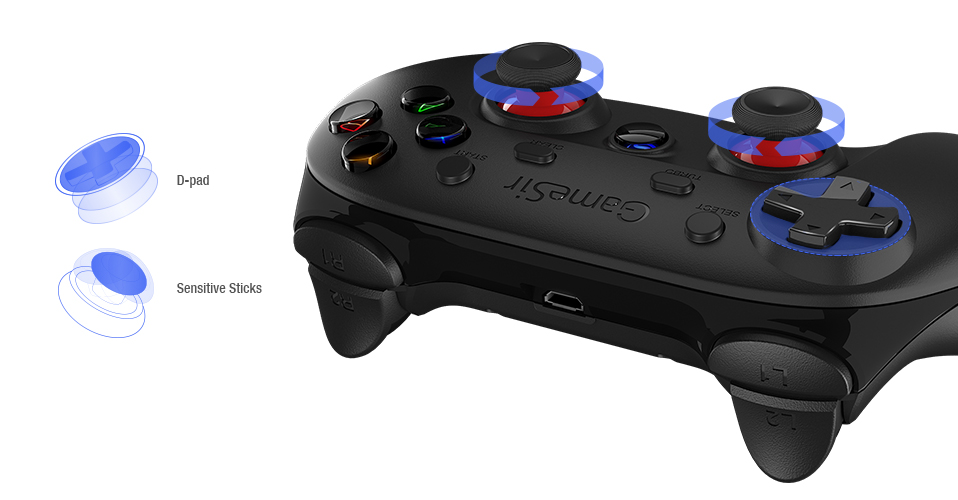 GameSir G3s Bluetooth joystick Android Gamepad Wireless Controller for  Android Smartphone Tablet VR TV BOX PS3 PC