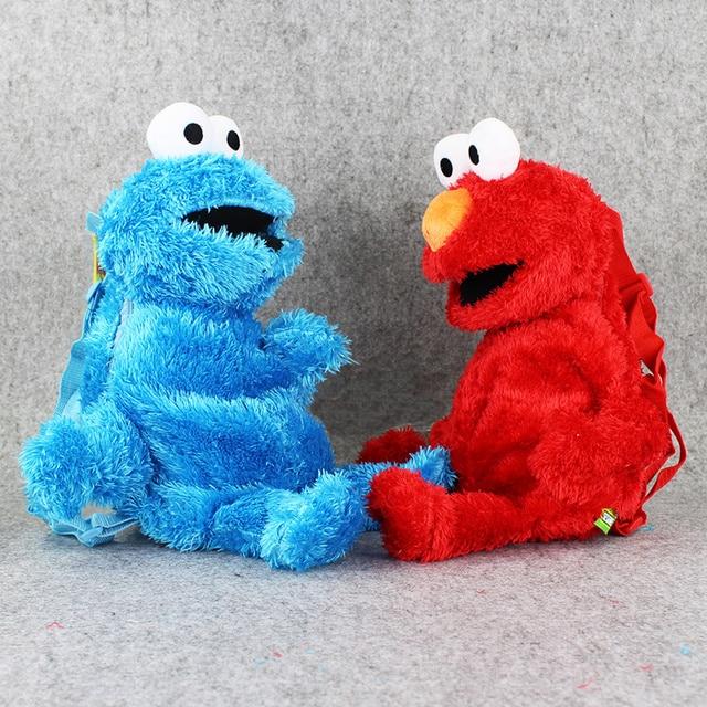 En Western cm 48 Elmo Peluche Sac Cookie Peluche Bande Street Rouge Dessinée Bleu Gars Sesame OwxHx1qF