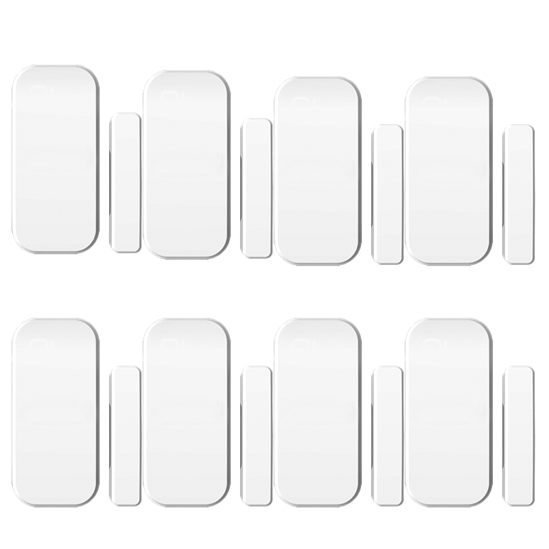 8pcs/lot 433MHz  Sensor Intelligent  Wireless Door Magnetic Sensor  Door Gap Window Sensors Detectors For our Alarm System thyssen parts leveling sensor yg 39g1k door zone switch leveling photoelectric sensors