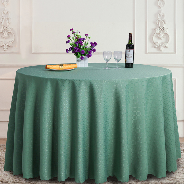 Green Plaid 100% Polyester Round Tablecloth Rectangular Dining Table Cloth  Fair Office Setting Cloth Home