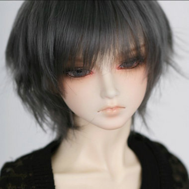 Free Shipping 1/3 Bjd Doll Wig Sd Short Grey BJD Wig High Temperature Wire For Doll Hair