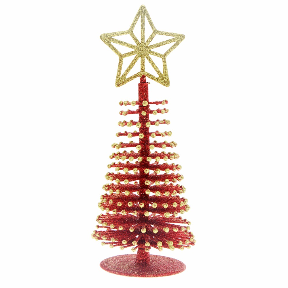 9 Merry Christmas Tabletop Decorative Plastic Small Tree With Glitter Topper Artificial Desk Ornaments In Trees From Home Garden On