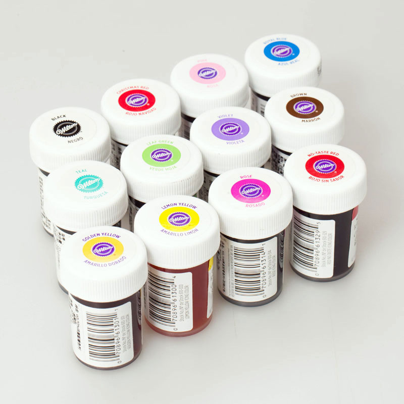9pcslot america wilton food coloring double sugar cake pigment color paste food baking cake - Colorant Gel Wilton