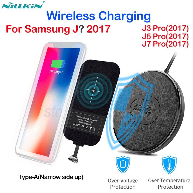 Nillkin Mini Qi Fast Wireless Charger+Micro USB Type A Charging Receiver Wireless Charging for Samsung Galaxy J3 J5 J7 Pro 2017