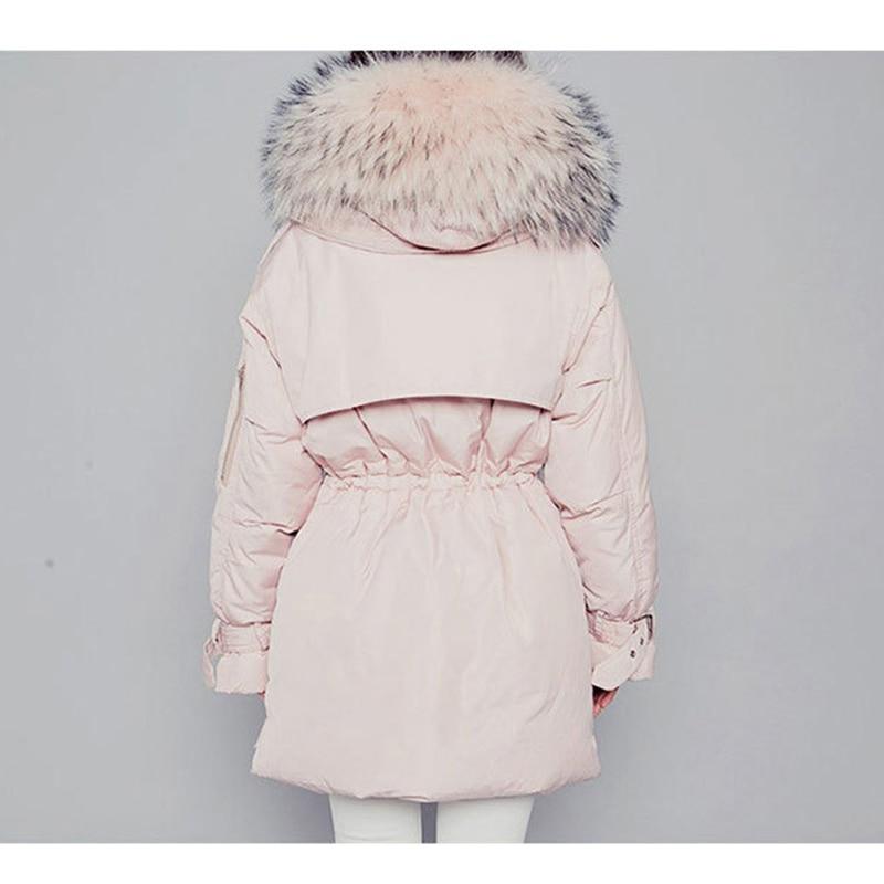 Down   jacket female 2019 fashion winter jacket women hooded big fur collar overcoat long women   down     coat   thicken warm   down   jacket