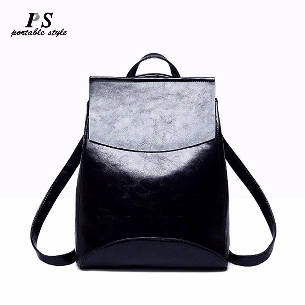 купить 2018 Fashion Women Backpack High Quality Genuine Leather Backpacks for Teenage Girls Female School Shoulder Bag Bagpack Mochila по цене 1764.13 рублей