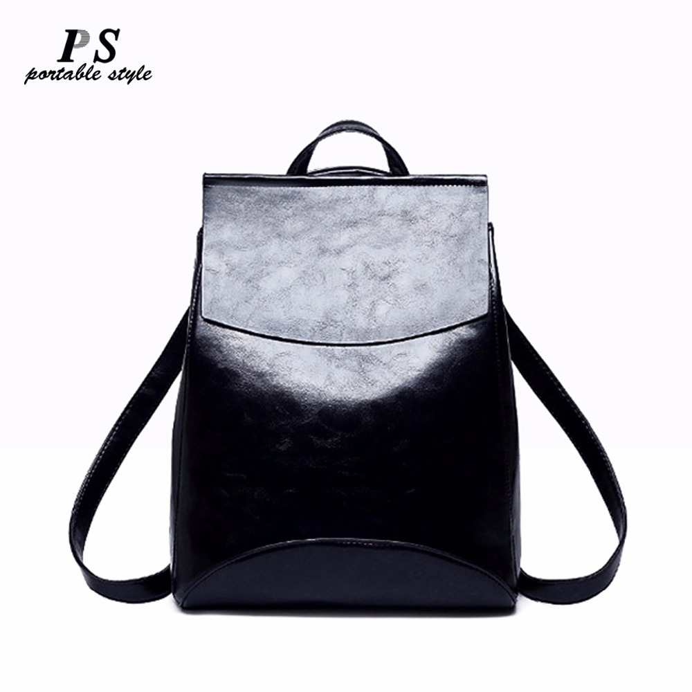 2018 Fashion Women Backpack High Quality Genuine Leather Backpacks for Teenage Girls Female School Shoulder Bag Bagpack Mochila